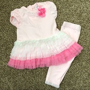 Little Me Pink Ruffle Outfit, Size 12 Months